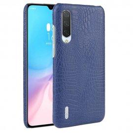 Carcasa Xiaomi MI 9 Lite Cuero Estilo Croco Azul