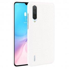 Carcasa Xiaomi MI 9 Lite Cuero Estilo Croco Blanco