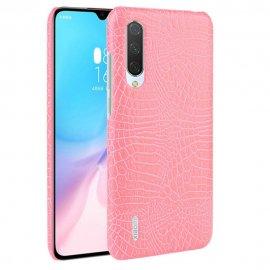 Carcasa Xiaomi MI 9 Lite Cuero Estilo Croco Rosa