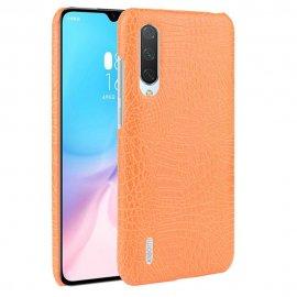 Carcasa Xiaomi MI 9 Lite Cuero Estilo Croco Naranja
