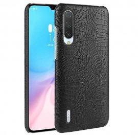 Carcasa Xiaomi MI 9 Lite Cuero Estilo Croco Negra