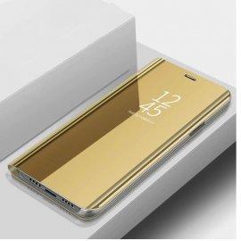 Funda Libro Smart Translucida Xiaomi MI 9 Lite Dorada