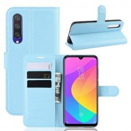 Funda Libro Xiaomi Xiaomi MI 9 Lite cuero Soporte Azul