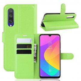 Funda Libro Xiaomi MI 9 Lite cuero Soporte Verde