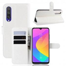 Funda Libro Xiaomi MI 9 Lite cuero Soporte Blanco