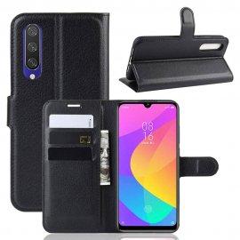 Funda Libro Xiaomi MI 9 Lite cuero Soporte Negro