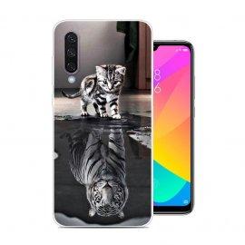 Funda Xiaomi MI 9 Lite Gel Dibujo Gato Espejo