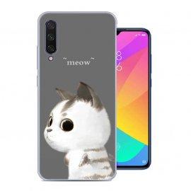 Funda Xiaomi MI 9 Lite Gel Dibujo Meow