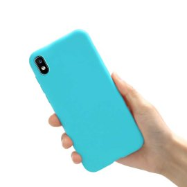 Funda Samsung Galaxy A10 lavable Mate Azul Extra fina