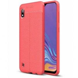 Funda Samsung Galaxy A10 Tpu Cuero 3D Roja