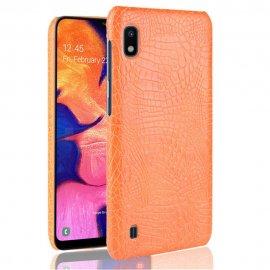 Carcasa Samsung Galaxy A10 Cocodrilo Naranja