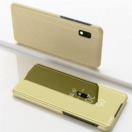Funda Libro Smart Translucida Samsung Galaxy A10 Dorada