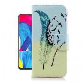 Funda Libro Samsung Galaxy A10 Soporte Pajaros