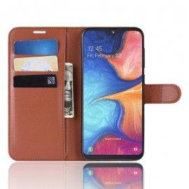 Funda Libro Samsung Galaxy A10 Soporte Marron
