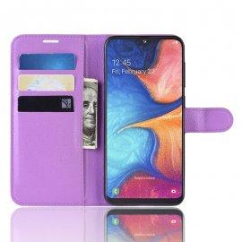 Funda Libro Samsung Galaxy A10 Soporte Lila