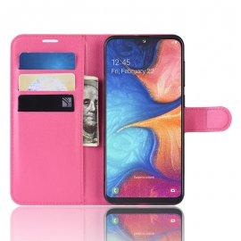 Funda Libro Samsung Galaxy A10 Soporte Fucsia