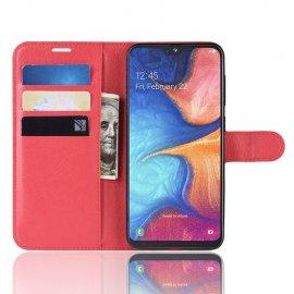 Funda Libro Samsung Galaxy A10 Soporte Roja