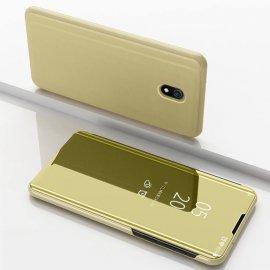 Funda Libro Smart Translucida Xiaomi Redmi 8A Dorada