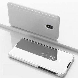 Funda Libro Smart Translucida Xiaomi Redmi 8A Gris