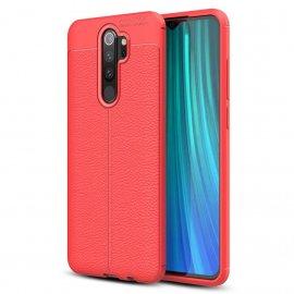 Funda Xiaomi Redmi Note 8 Pro Cuero Tpu 3D Roja
