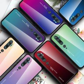 Funda Xiaomi Mi Note 10 Trasera Cristal templado verde
