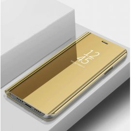 Funda Xiaomi Mi Note 10 libro Smart View Dorada