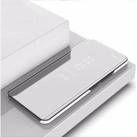 Funda Xiaomi Mi Note 10 libro Smart View gris plata