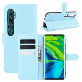 Funda Libro Xiaomi MI Note 10 cuero Soporte Azul