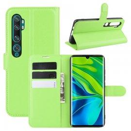 Funda Libro Xiaomi MI Note 10 cuero Soporte Verde