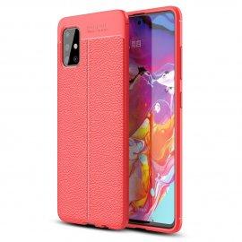 Funda Samsung Galaxy A51 Tpu Cuero 3D Roja