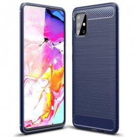 Funda Samsung Galaxy A51 Tpu Carbono 3D Azul