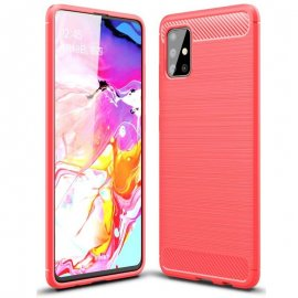 Funda Samsung Galaxy A51 Tpu Carbono 3D Roja