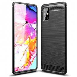 Funda Samsung Galaxy A51 Tpu Carbono 3D Negra