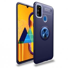 Funda Samsung Galaxy A51 Anillo Soporte Azul