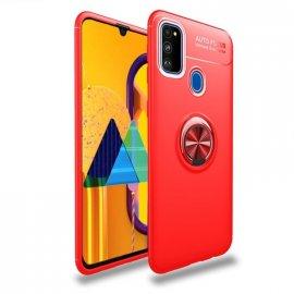 Funda Samsung Galaxy A51 Anillo Soporte Roja