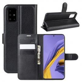 Funda Cuero Samsung Galaxy A51 Libro Soporte Negra