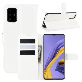 Funda Cuero Samsung Galaxy A51 Libro Soporte Blanca