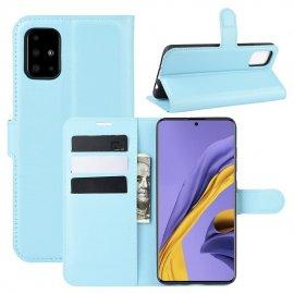 Funda Cuero Samsung Galaxy A51 Libro Soporte Azul