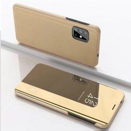 Funda Smart Translucida Samsung Galaxy A51 Dorada Espejo