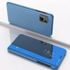 Funda Smart Translucida Samsung Galaxy A51 Azul Espejo