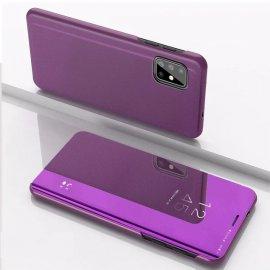 Funda Smart Translucida Samsung Galaxy A51 Negra Lila