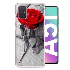 Funda Samsung Galaxy A51 TPU Dibujo Rosa