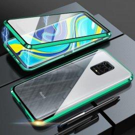 Funda Cubretodo Xiaomi Redmi Note 9 PRO Magnetica Verde lateral