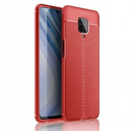 Funda Redmi Note 9 Pro Cuero Tpu 3D Roja