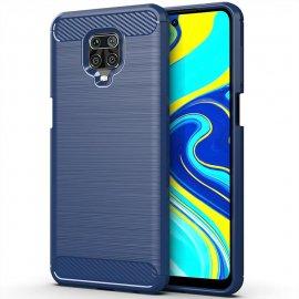 Funda Xiaomi Redmi Note 9 PRO TPU Carbono 3D Azul