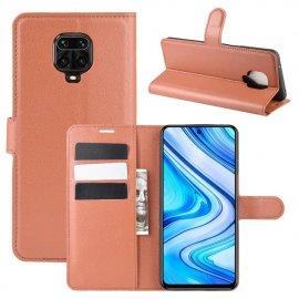 Funda Libro Xiaomi Redmi Note 9 Pro Cuero Marron