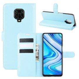 Funda Libro Xiaomi Redmi Note 9 Pro Cuero Azul