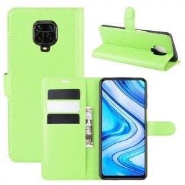 Funda Libro Xiaomi Redmi Note 9 Pro Cuero Verde
