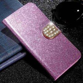 Funda Libro Xiaomi Redmi Note 9 Pro Bling Rosa Diamantes