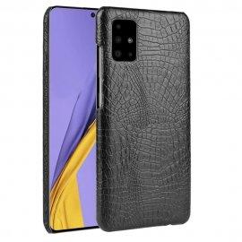 Carcasa Samsung Galaxy A51 Cuero Estilo Croco Negra